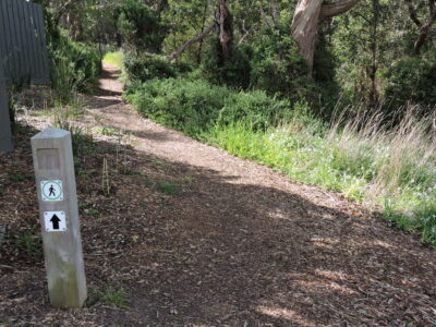 Path Sign along Creek